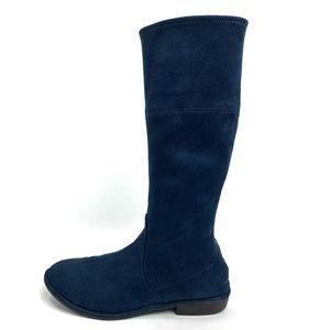 Stuart Weitzman blue suede boots. Size 5